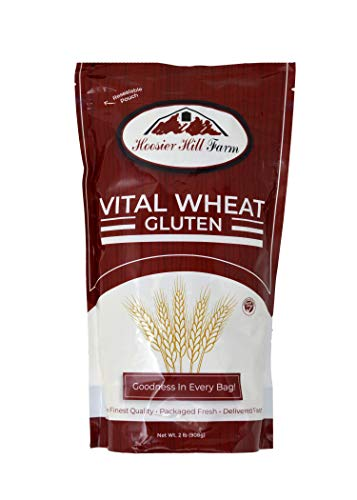 Hoosier Hill Farm Vital Wheat Gluten, High in Protein, NON-GMO 2 lb Great for Vegan recipes, Seitan and Keto Bread, Pizza Dough, and more