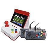 Urhause Consola Juegos Retro,Mini Recreativa Arcade Doble Asa Consola de Videojuegos Clásico Más de 300 Juegos,Rojo Blanco