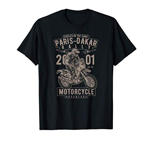 Rally de Aventura en Motocicleta Off-Road Paris-Dakar Camiseta