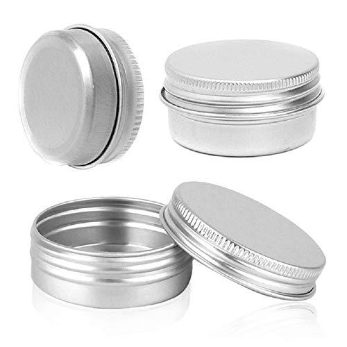 Bingpong 20 stücke 5ml-250ml Muti-größe Silber Leere Aluminium Metalldose Nachfüllbare Behälter für Kosmetische Kunsthandwerk Kerze Salbe Schmuck Kleine Probe Vorratsgläser (30ml)