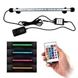 COVOART LED Aquarium Light, 15 inches Fish Tank Light RGB Color Underwater Light Submersible Crystal Glass Lights