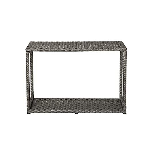 MSPA - Mueble para bañeras de hidromasaje cuadradas – Mueble con puertas – Mueble de día – Escalón – Gris efecto mimbre, polirratán (mueble de día)