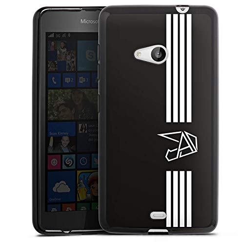 DeinDesign Silikon Hülle kompatibel mit Microsoft Lumia 535 Dual SIM Hülle schwarz Handyhülle Anica Youtuber Streifen