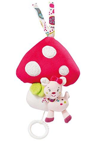 Fehn 076073 Boîte à musique en forme de champignon avec mécanisme de suspension amovible pour bébé à partir de 0 mois