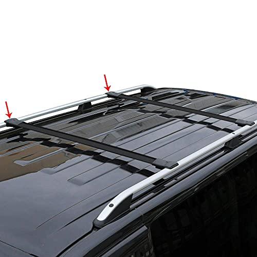 OMAC Relingträger Dachträger Dachgepäckträger Kompatibel mit Mercedes Vito V Klasse W447   Fahrradträger Dachboxen Dachgepäckablage Dachteile Eloxiertem Aluminium Schwarz mit TÜV ABE 2 TLG