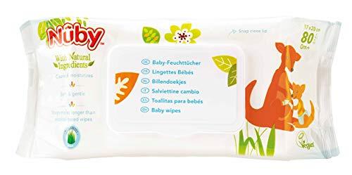 Nuby Salviette Igiene Baby con Ingredienti Naturali, 80 pezzi