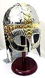 UK Gift Casco de máscara vikinga con Cadena de Correo, Armadura Medieval para Disfraz de Casco