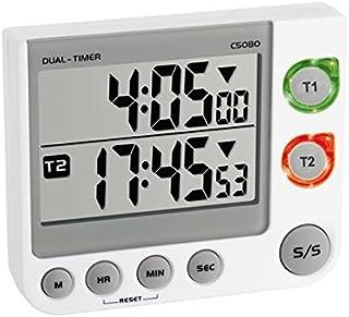 TFA 38.2025 - Avisador digital de cocina de 2 tiempos (blanco con baterías)