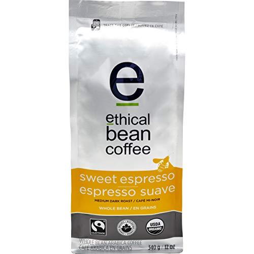 Ethical Bean Coffee Sweet Espresso: Medium Dark Roast Whole Bean