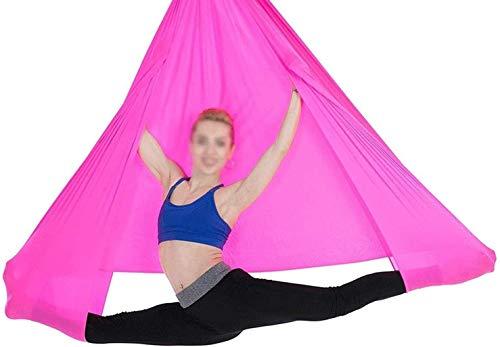 Hamaca de yoga aérea - Swing de yoga de seda aérea premium para adultos y niños Antigravity Yoga, ejercicios de inversión, flexibilidad mejorada y resistencia al núcleo - Incluye anillo fijo, mosquetó