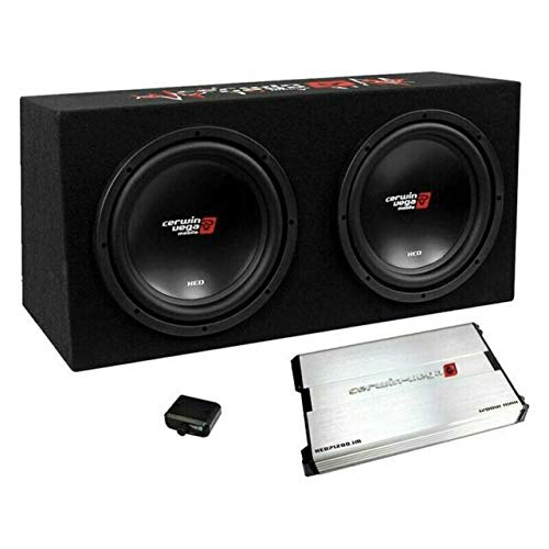 """Cerwin-Vega BKX7212S2 12"""" 3000W Dual Sealed Subwoofer Bass Package - Includes Loaded Enclosure with Amplifier"""