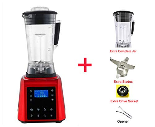 Automatic Digital Touchscreen 2L Professional Blender Mixer Juicer High Power Food Processor Green Fruit Smoothies,RED JAR PARTS,AU Plug
