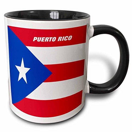 3dRose mug_45062_4'State Flag Of Puerto Rico' Two Tone Black Mug, 11 oz, Multicolor