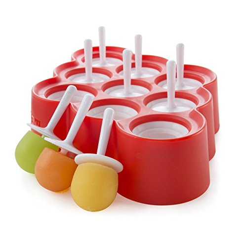 Zoku Slow Pop - Molde para helado Hace divertidas lolas de hielo. Fácil de quitar molde de seda, no hay necesidad de correr bajo el agua. Divertidos y coloridos diseños. Sin BPA ni ftalatos.