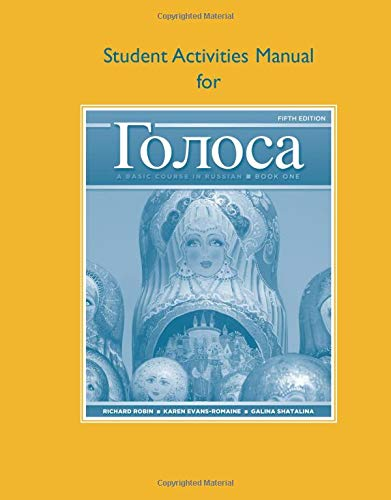 Student Activities Manual for Golosa: A Basic Course in...