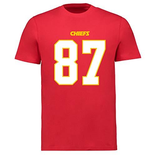 Fanatics NFL Kansas City Chiefs Travis Kelce #87 Name Number Shirt Jersey Trikot (L)