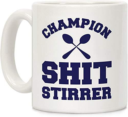 Koffie mok, Thee Beker, Kampioen Shit Stirrer Wit 11 Ounce Keramische Koffie Mok