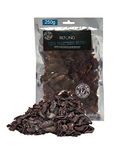 250g Biltong, Tasty Traditional Beef Biltong, a Healthy Snack with Natural Creatine, Essential Amino Acids, High Protein, Low carb, Low Calorie, Biltong Beef Jerky, Gluten Free, by The Biltong Man