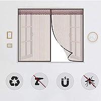 窓用磁気蚊帳、自己接着ネットカーテン、防虫磁気窓保護ネット、閉じて取り外し可能、ほとんどのタイプの窓やドアに適しています-85x70cm(33x27inch)