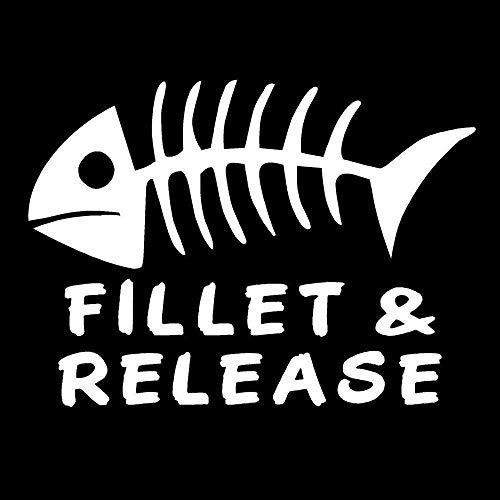 Social Liuzi 15.2cm * 11cm del vinilo de filete de pescado de lanzamiento de pesca Huesos del barco del lago pegatina de la diversión etiquetas engomadas del coche Car Styling Negro -A Social Liuzi