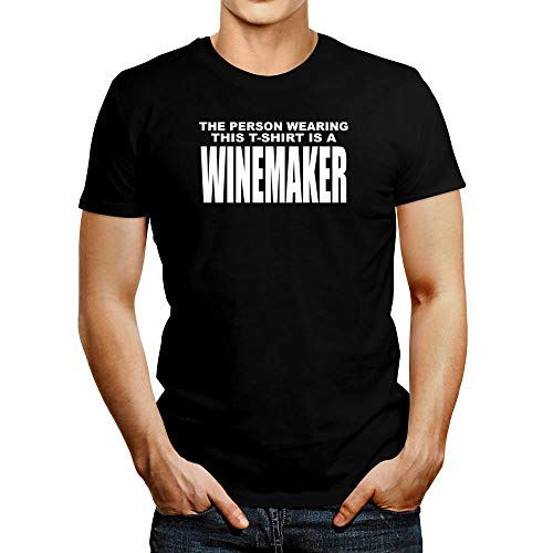 Idakoos La persona que usa esta camiseta es una camiseta de enólogo - Negro - Medium