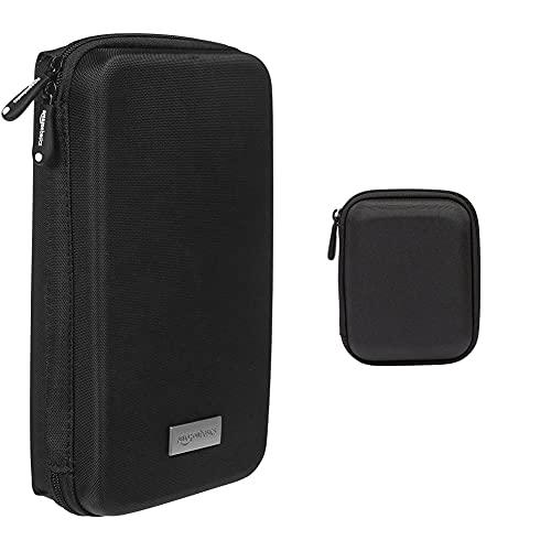 Amazon Basics Universaltasche für elektronische Kleingeräte (z.B. Spielekonsolen, Tomtom Navi) & Festplattentasche, schwarz