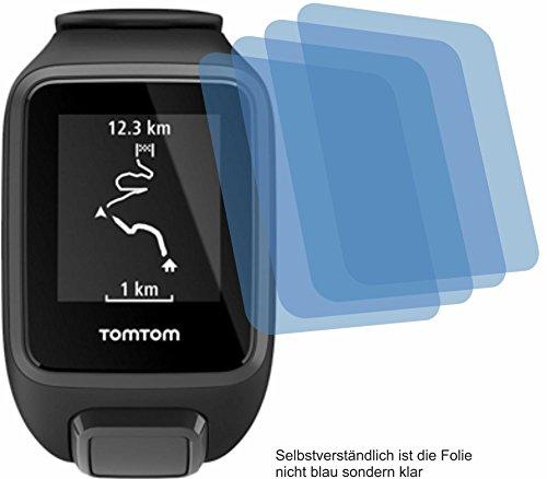 4ProTec I 4X ANTIREFLEX matt Schutzfolie für Tomtom Runner 3 / Spark 3 Bildschirmschutzfolie Displayschutzfolie Schutzhülle Bildschirmschutz Bildschirmfolie Folie