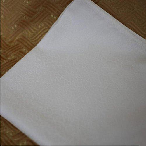 MXJ61 Restaurant de tissu de serviette de tissu d'hôtel de bouche se pliant la nappe 50 * 50cm de fleurs ( taille : 10 Pcs/Set )