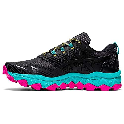 ASICS Gel-Fujitrabuco 8, Zapatillas de Correr Mujer, Negro y Blanco, 37.5 EU