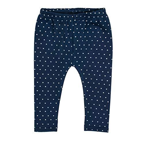 Salt & Pepper Baby-Mädchen Woodland Herzchen-Allover-Print Leggings, Blau (Indigo Blue 429), (Herstellergröße: 68)