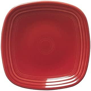 Fiesta 10-3/4-Inch Square Dinner Plate, Scarlet