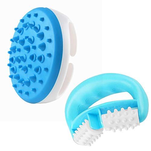 AODOOR Cepillo masajeador de silicona Cepillo de masaje de aceite esencial Cepillo...