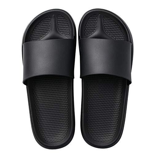 XWHKX Zapatillas de Verano para Mujer Sandalias deslizantes Zapatillas de Color Caramelo Zapatillas de Fondo Grueso Zapatos de baño para niñas y niños