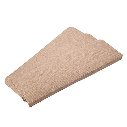 DIOXQEN Almohadillas de protección Antideslizantes 15 Piezas |Resbalón no for escaleras de la Alfombra de la pisada Mats |28x65cm Escalera Esterilla Color sólido Antideslizantes fo