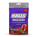Halls Breezers Drops Sugar Free Cool Berry 20 Each (Pack of 12)