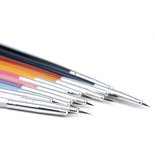 12pcs / Nail Art Pinceau Brosses Design Stylo Fine Détails Liner Conseils Dessin Peinture Set d'outils