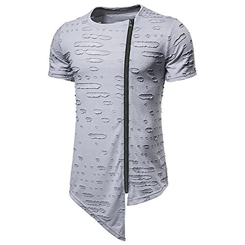Streetwear Hombres Deporte Casual Cordón Hombres Sudadera con Capucha Verano Color Sólido Dobladillo...
