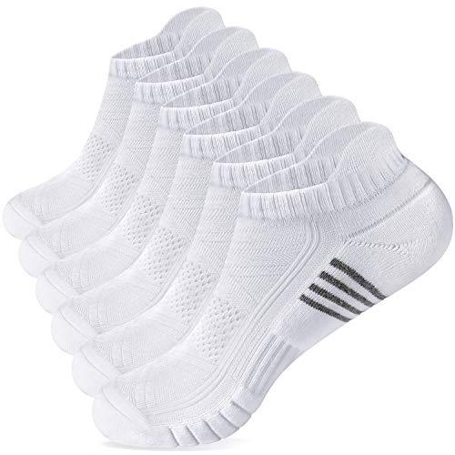 Alaplus Socks for Men, Low Short Ankle Socks Performance Comfort Cushioned Low Cut Running Tab Socks