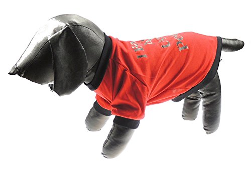 Glamour Girlz grappige kleine honden T-Shirt ik blaf bij lelijke mensen - 9 maten van theekopje kleine rassen tot grote grote grote honden, 2 X-Large, Rood