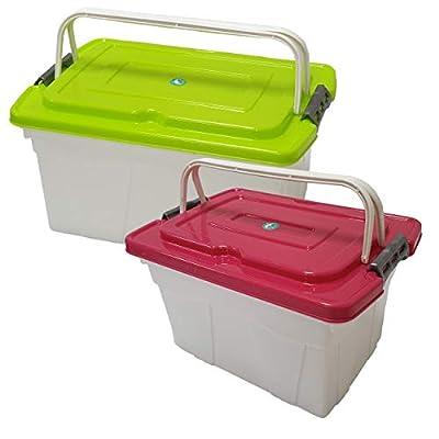 Amazon - Save 50%: Macro Giant Portable Storage Boxes, 7L Red-White + 12L Green-White…