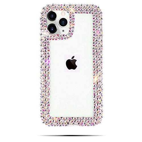 Bonitec Jesiya for iPhone 11 Pro Max Case 3D Glitter Sparkle Bling Case Luxury Shiny Crystal Rhinestone Diamond Bumper Clear Protective Case Cover Clear