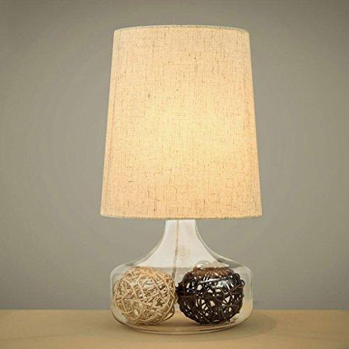 Lampe de table lampe de bureau Lampe de table en verre chambre à coucher lit de chevet salon décoration hôtel décoré lampe classique créatif chaleureux romantique lampe de table décorative, E27