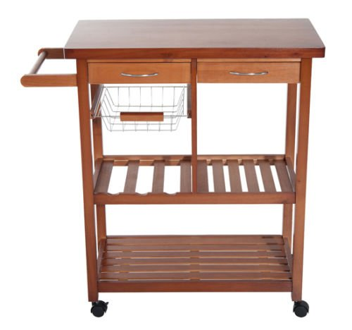 New Wood Portable Rolling Home Storage Cart Drawers Kitchen Table Trolley Buy Online In Mongolia At Desertcart