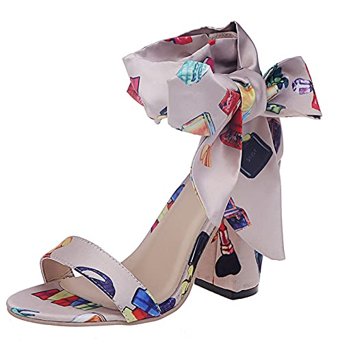 Dampumps romersk sandal sandalett peep Toe Bowknot bröllopsskor kvällsfest klänning skor höga klackar, Vit - 1 vit - 37.5 EU