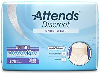 Attends Attends discreet underwear, female, medium, 80 Count
