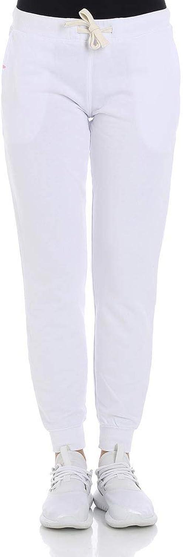 Sun 68 Women's F1821601 White Cotton Joggers