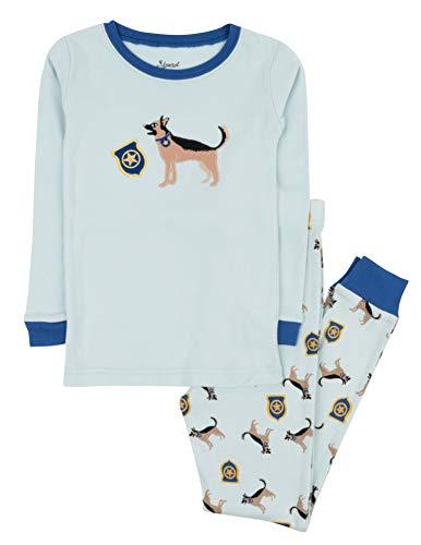 Leveret Kids Pajamas Boys Girls 2 Piece pjs Set 100% Cotton (Police Dog, Size 6 Years)