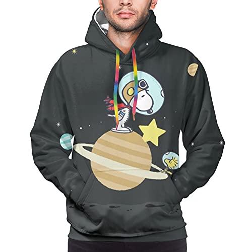 Snoopy - Sudadera con capucha para hombre, deportes y ocio, temperamento cómodo al tacto, ropa de moda para hombre, talla XXL, color negro