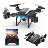 XIAOKUKU Foldable Drone, Mini Rc Quadcopter Supports Air Pressure Fixed Height, Headless Mode