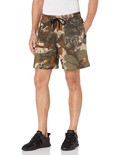 adidas Originals mens Camo Shorts Hemp/Brown/Green/Orange Large